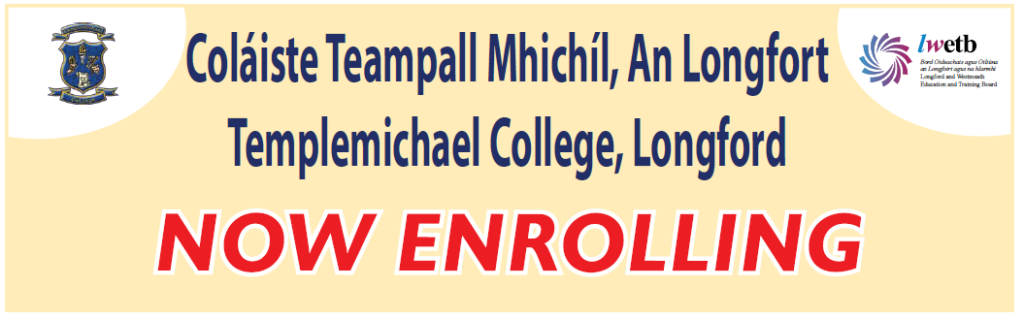 Templemichael College Virtual Open Evening Fri 23rd October